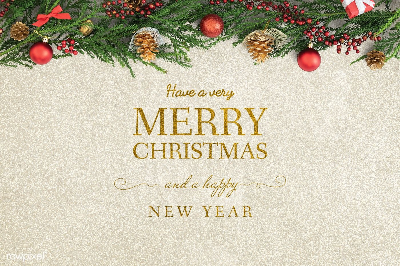 Download Premium Psd Of Merry Christmas And Happy New Year Greeting Card New Year Greeting Cards Happy New Year Greetings Merry Christmas And Happy New Year