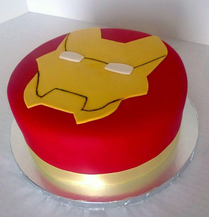 Iron Man Birthday Cake Superpoderosas Pinterest Iron Man Cakes