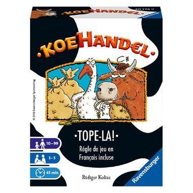 Ravensburger Koehandel kaartspel  Het Koehandel-kaartspel van Ravensburger is een grappig aan- en verkoopspel. De spelers moeten proberen om de meeste dieren te krijgen.  EUR 9.99  Meer informatie