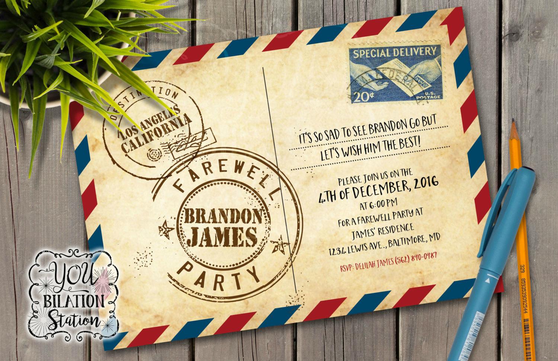 format of handmade farewell invitation card for seniors