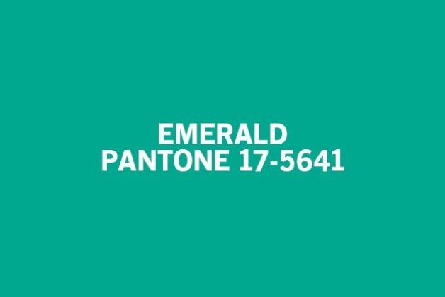 Pantone's color of the year for 2013 is Emerald!