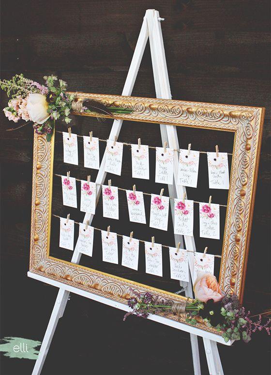 Diy bohemian wedding seating chart the elli blog pinterest and charts also rh