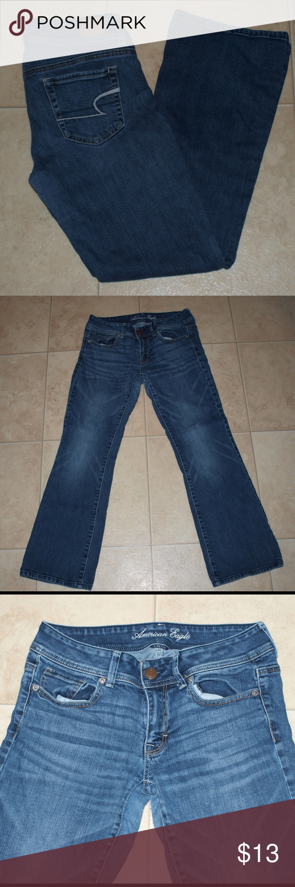 $10 AEO original boot jeans Some wear between thigh area. Super cute! Size 6 short. Waste measurement across when flat = 15 inseam = 28  ✔The price in the beginning of the title of my listings is the bundle price. These prices are not valid through the make a bundle feature. A new listing must be made by me. These bundle orders must be over $15. Ask me about more details if interested.  ✔No trades. American Eagle Outfitters Jeans
