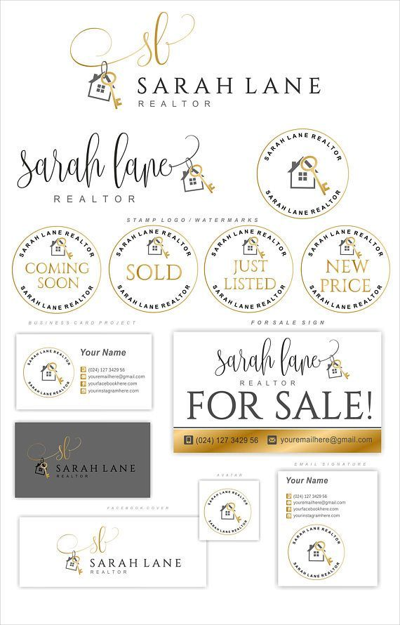 Real Estate Logo, Realtor Logo, House Key Logo, Gold Logo design ...