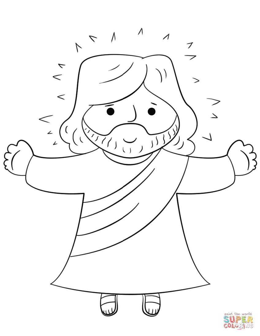 Dibujo De Jesus De Dibujos Animados Para Colorear Dibujos Dibujos De Jesus Jesus Para Colorear Imagenes De Jesus Resucitado