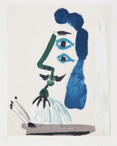 """PABLO PICASSO Portrait of Dora Maar 29.5/"""" x 21.5/"""" Lithograph 1993 Cubism"""