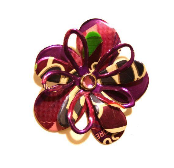 Purple Fanta Grape Flower  MAGNET Hair Clip or by PopCanCreations