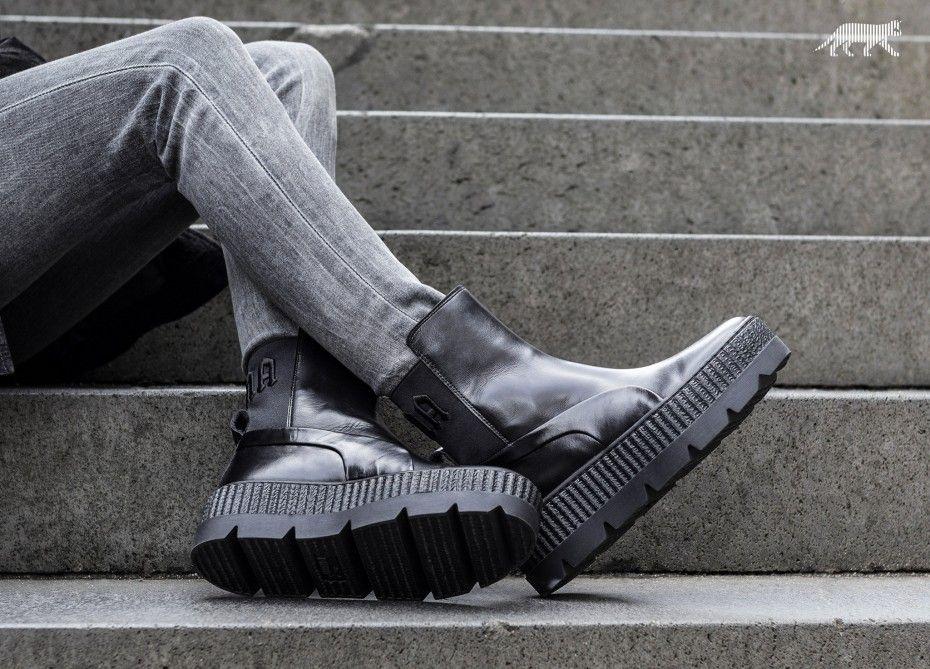 Puma x Fenty Chelsea Sneaker Boot (Puma Black)  Fenty X  Puma by  Rihanna   Fashion  Footwear  Sneakers  Apparel  Style  Shoes  FentyXPuma  GetTheLook 58de160ee