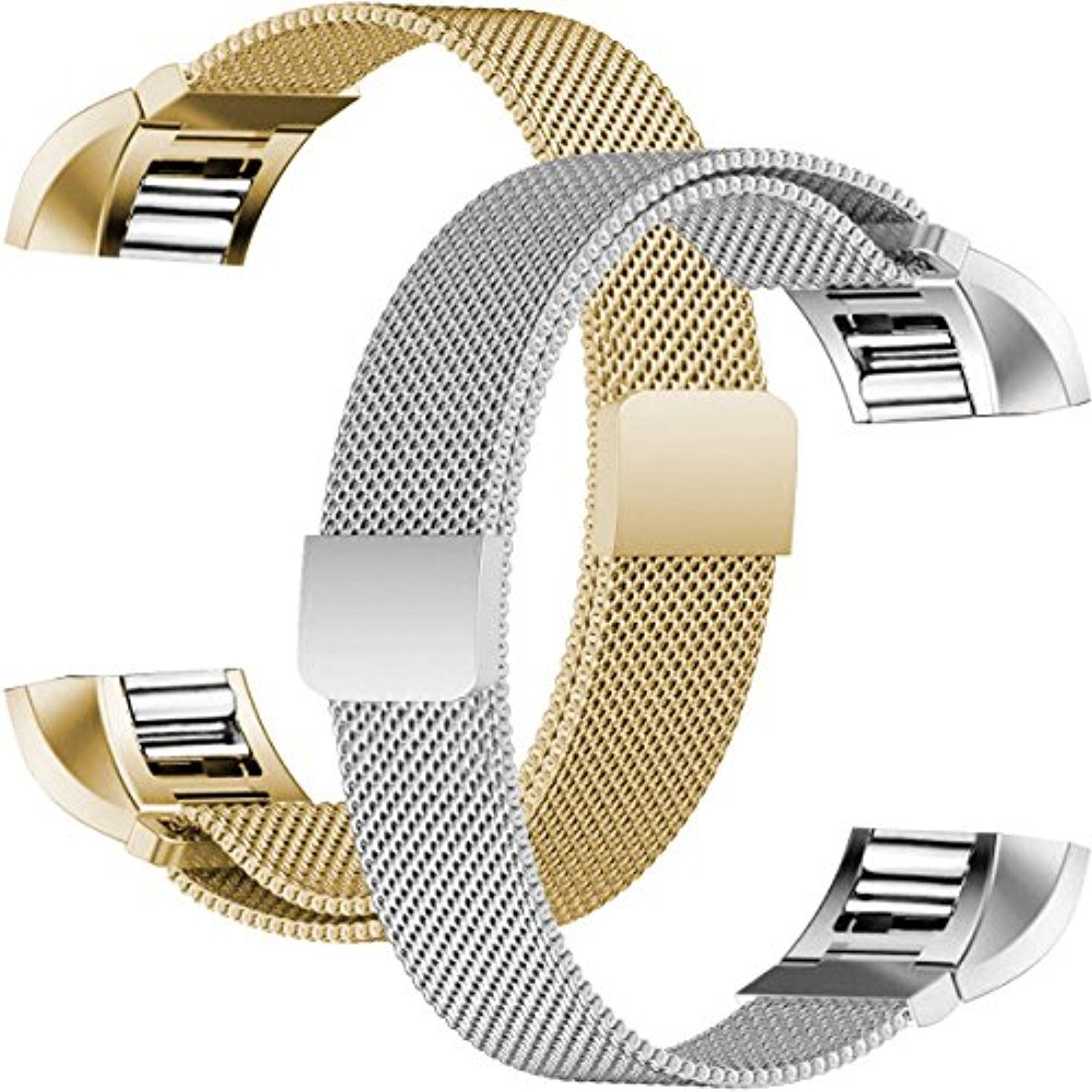 For fitbit charge bands humenn stainless steel milanese loop