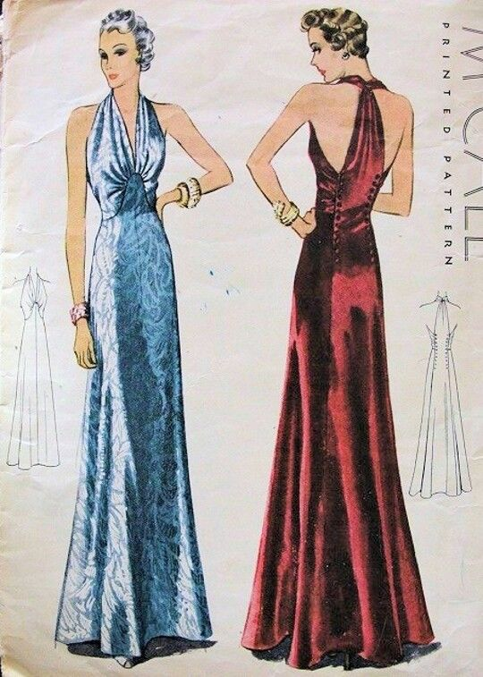 The halter bias cut dress very popular in 1930 s fashion because like the  era s popular backless dress styles d7236e152