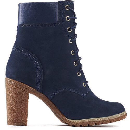Timberland WOMENS Glancy 6 Inch Fashion Heel Boots Navy blue