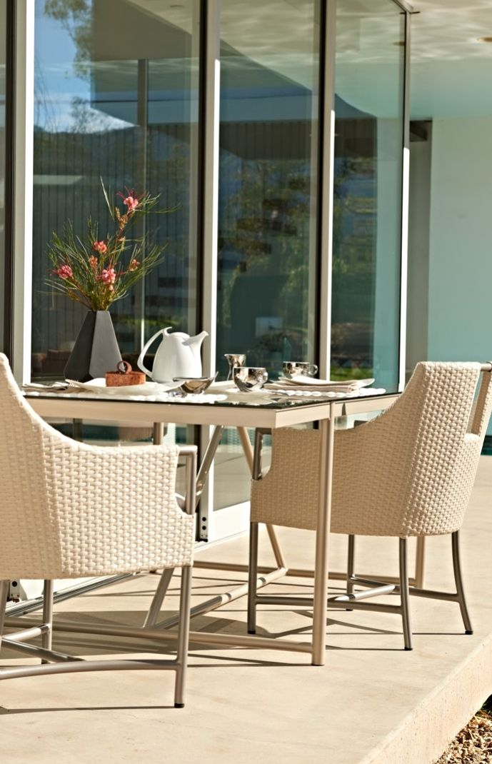 Fine dining takes the lighter side. The graceful Enzo ... on Fine Living Patio Set id=61511