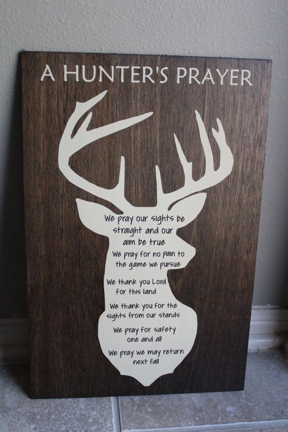 Photo of Items similar to Hunter's Prayer sign // hunting cabin decor // man cave sign on Etsy