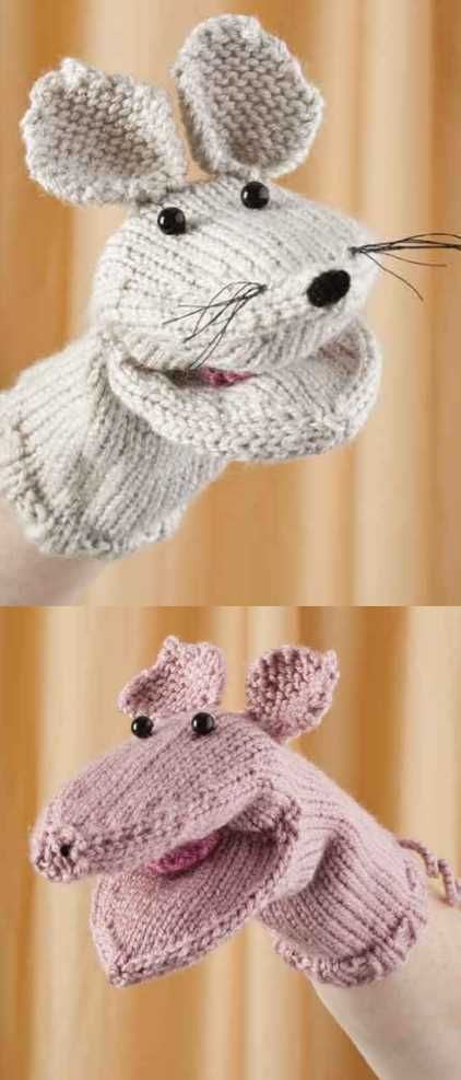 Free Pattern for a Mouse and Piglet Hand Puppet #handpuppets