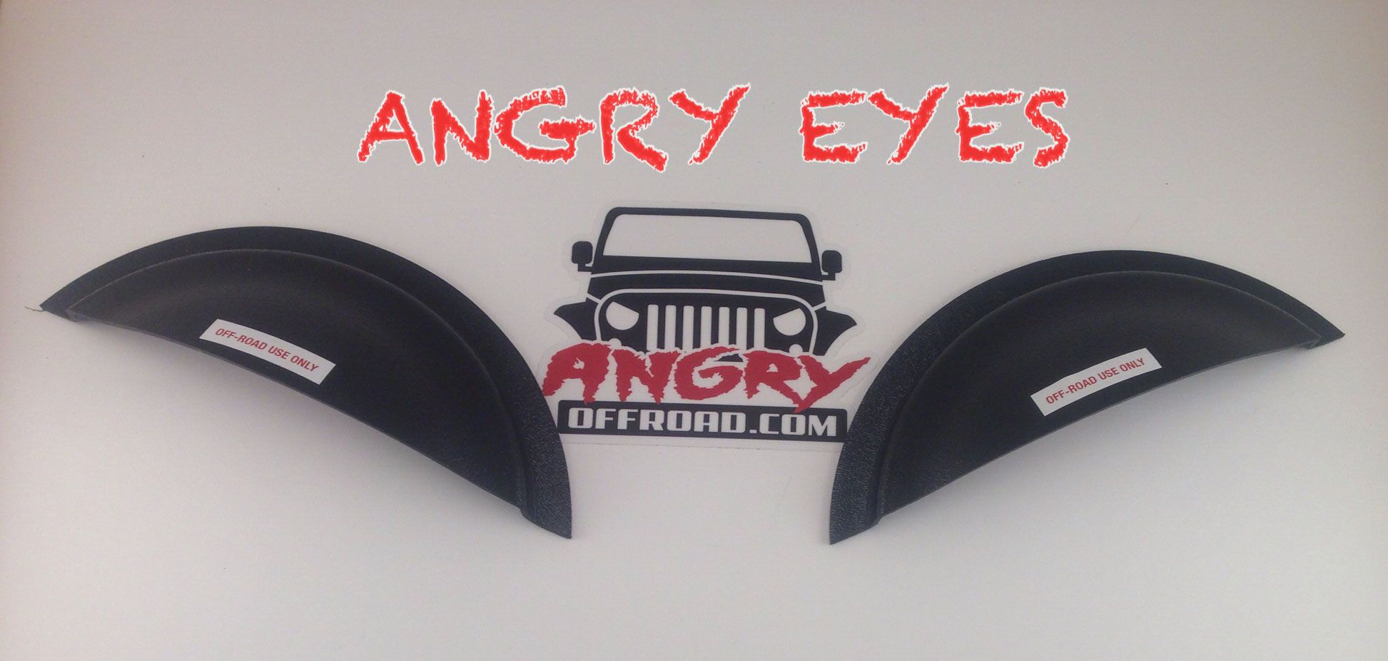 Angry Eyes Jeep Headlight Cover Angry Eyes Jeep Headlight