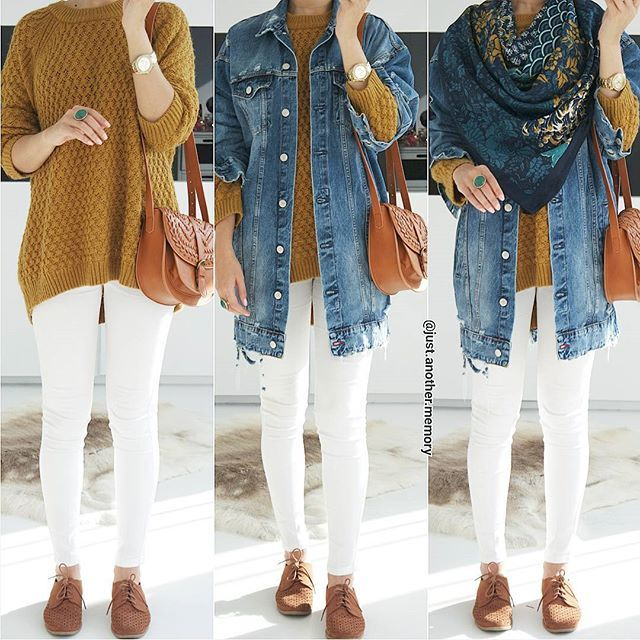 The Full Look Hijab Outfit Inspiration Jackets Outfits Denim