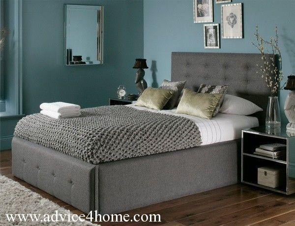 Modern Teal Wall And Gray Bad Design In Bad Room | La Casa