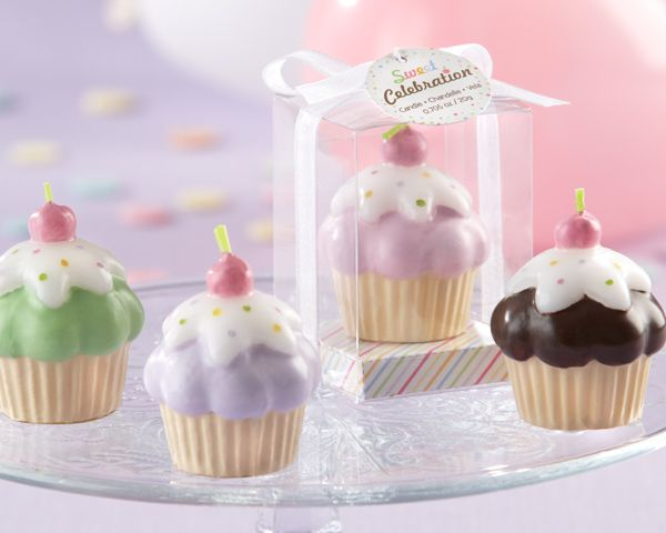 """Sweet Celebration"" Cupcake Candles (Set of 4)"