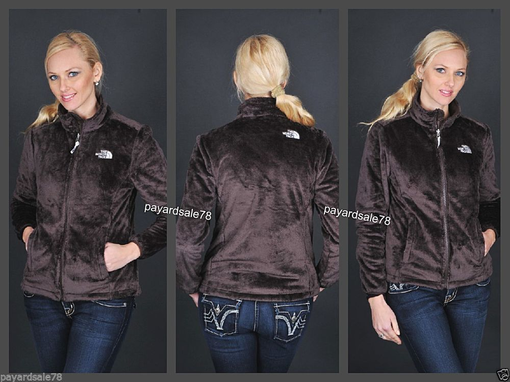 WOMEN'S THE NORTH FACE OSITO FULL ZIP BROWN SILKEN FLEECE JACKET ...