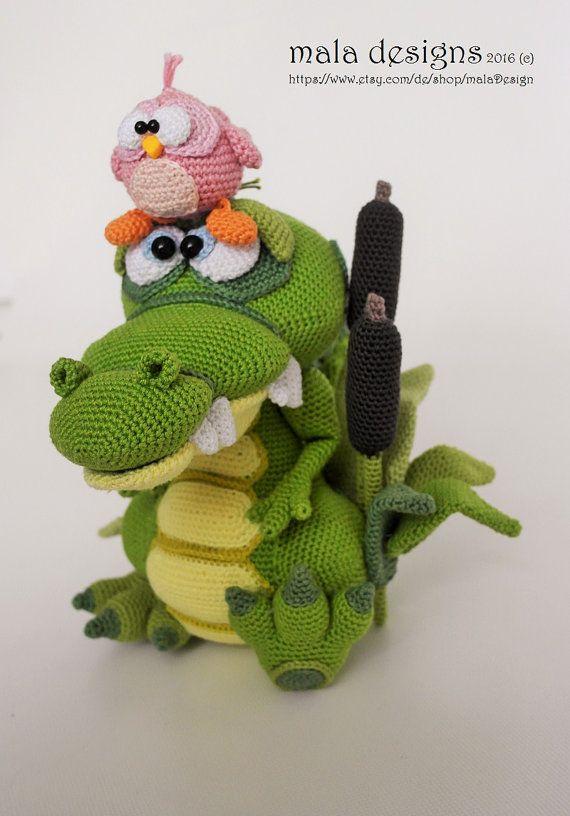 Crocodile And Bird Crochet Pattern By Mala Designs Crochet