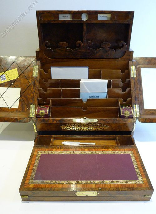 Antiques Atlas - Finest Grand Burl Walnut Stationery Cabinet C.1860 - Antiques Atlas - Finest Grand Burl Walnut Stationery Cabinet C.1860