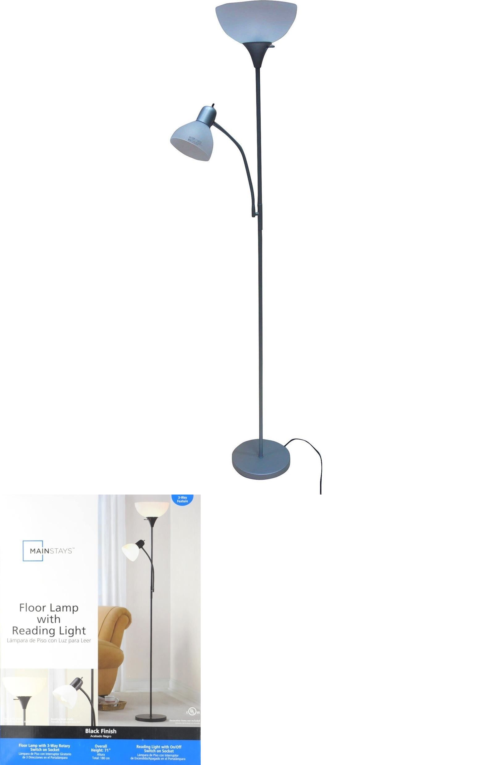 Lamps 112581 Mainstays Standing Floor Lamp Combo Living Room