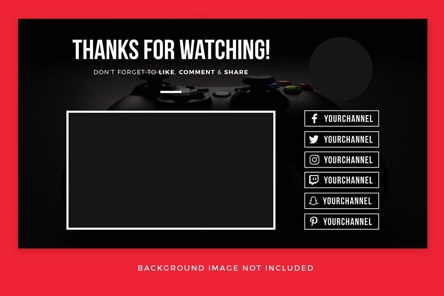 Ad youtube end card templates by medialoot on