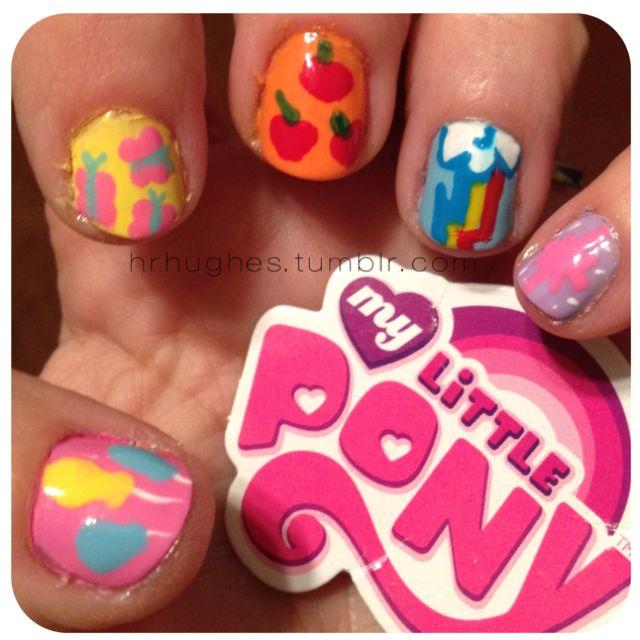 My Little Pony Nails   Nail Art   Pinterest   Decoración de uñas y ...