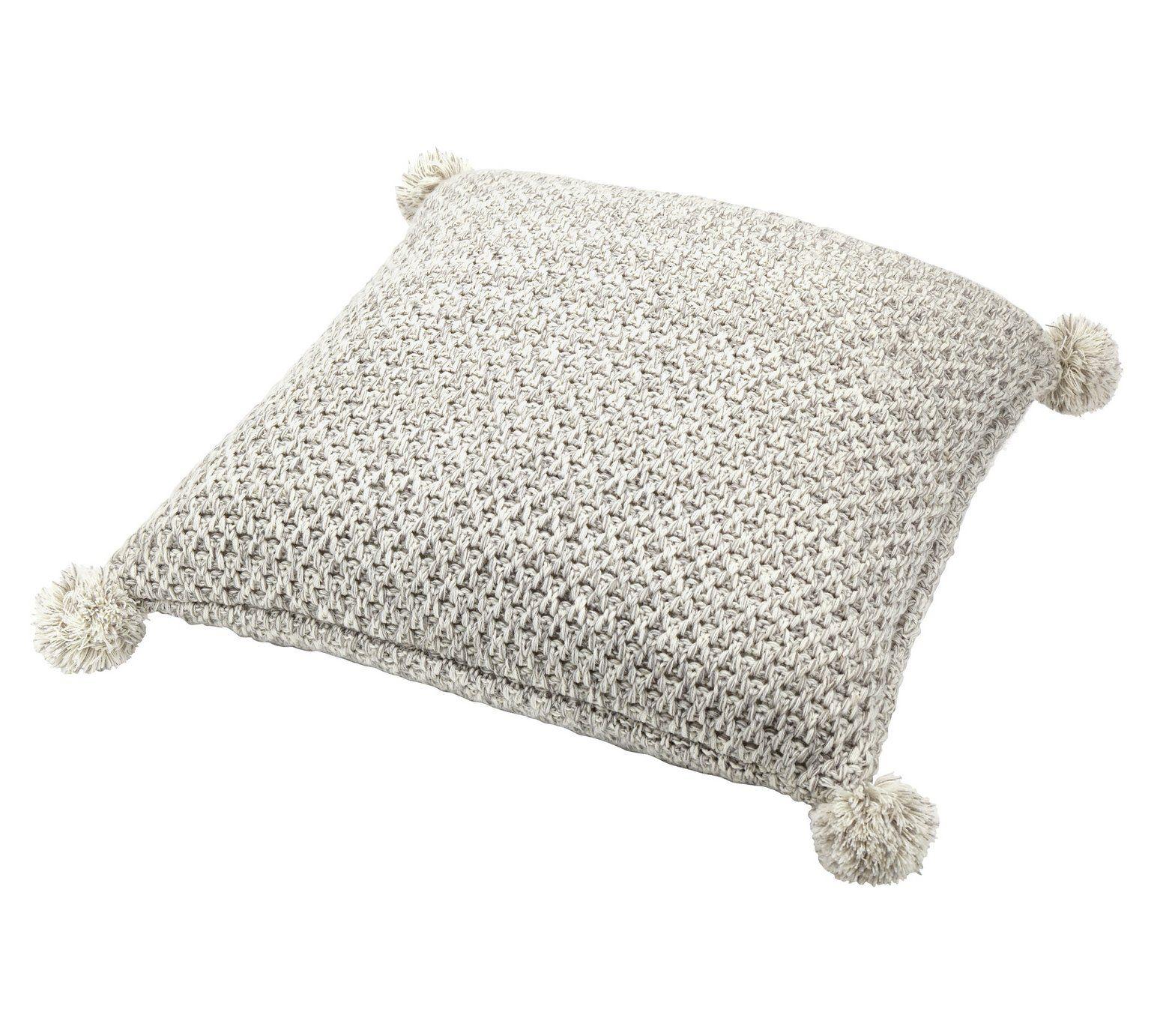 Buy Sainsburys Home Pom Pom Cushion  Grey At Argoscouk,