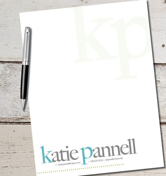 Custom Personalized Letterhead for resumes, cover letters, thank you