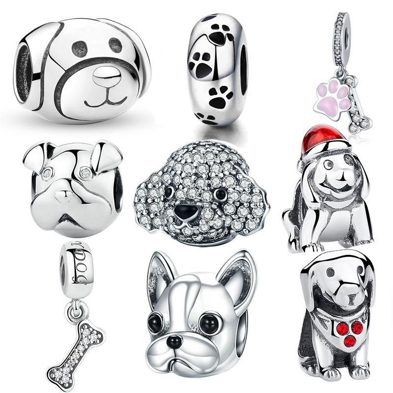 b0682b06fd6 Beautiful 925 sterling silver pet/dog/cat animal charms/beads, designed for  those who love their pets. Compatible with Biagi, Troll, Chamilia, ...