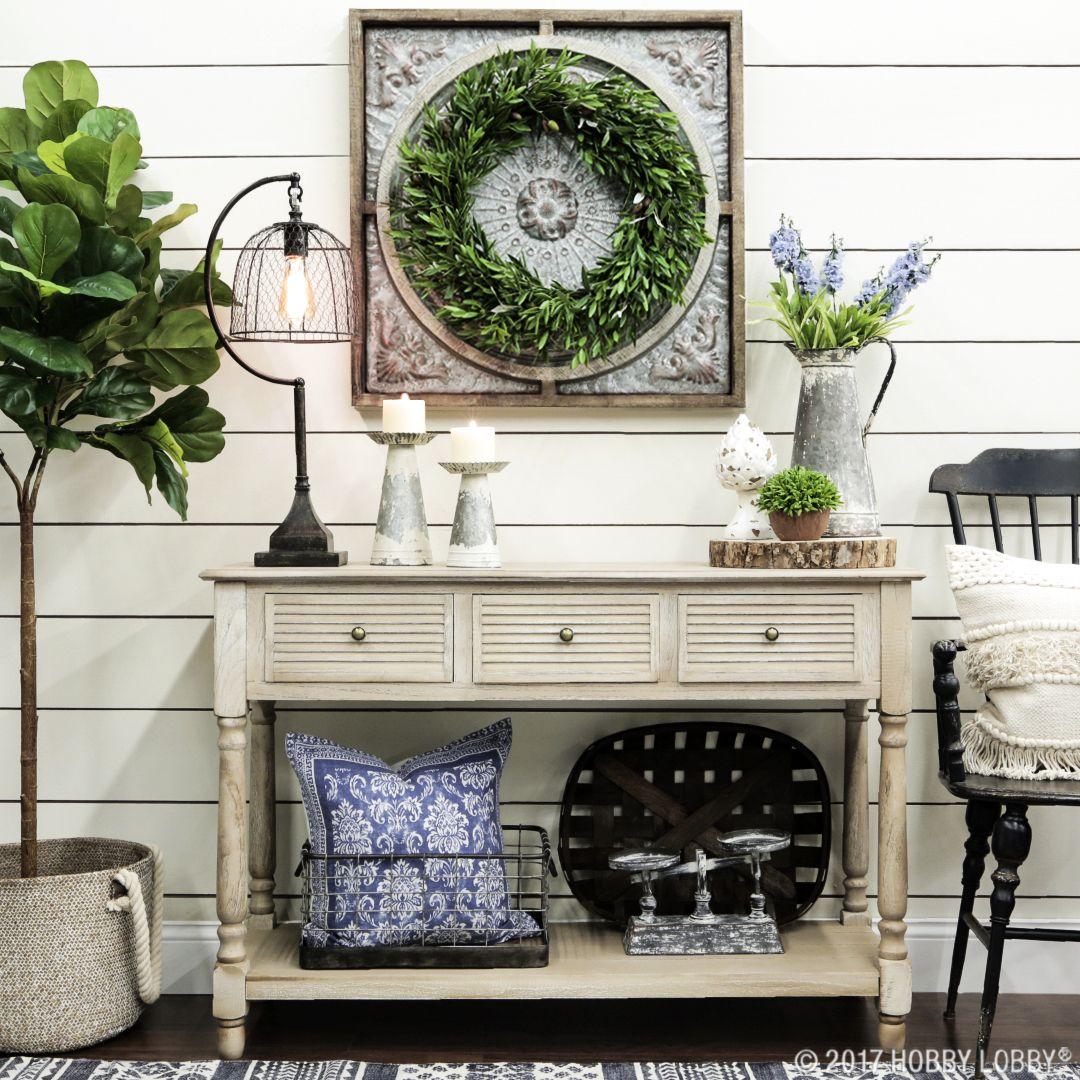 Fresh Farmhouse Styling | Living room decor hobby lobby ...