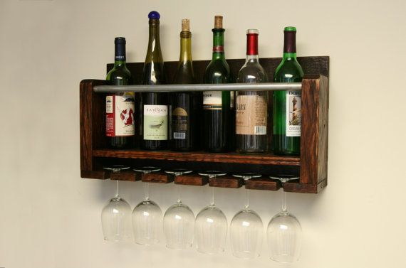 Distressed to Impress  Rustic 6 Bottle Wall by MossFarmDesigns