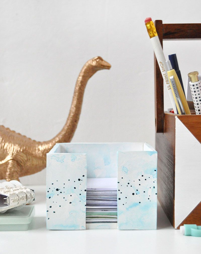 Zettelhalter DIY Schreibtisch