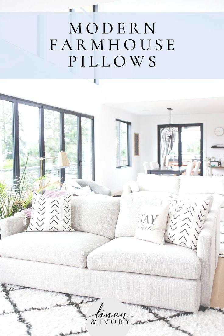 Tan And White Throw Pillows Farmhouse pillows, Farmhouse