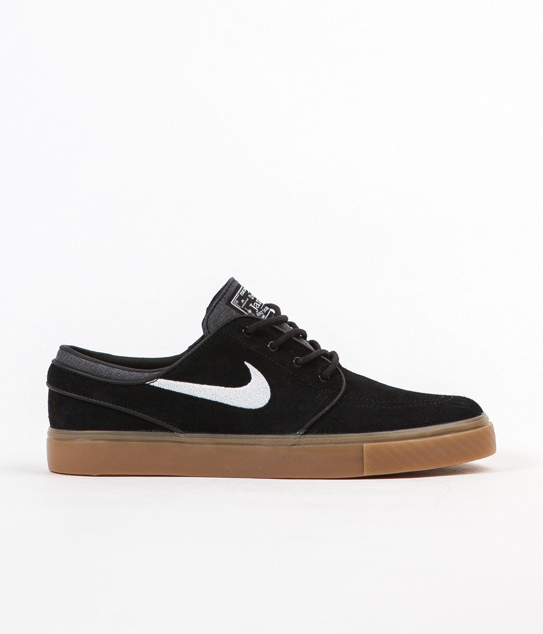Nike Sb Stefan Janoski Shoes Black White Gum Light Brown Stefan Janoski Shoes Nike Janoski Nike