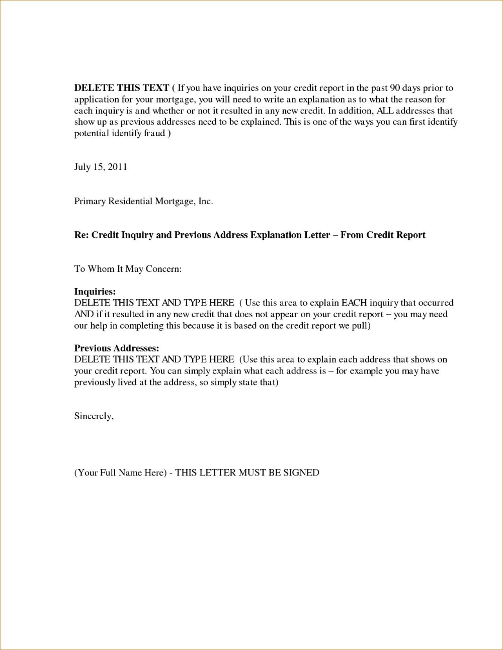 Letter Of Explanation Templates from i.pinimg.com