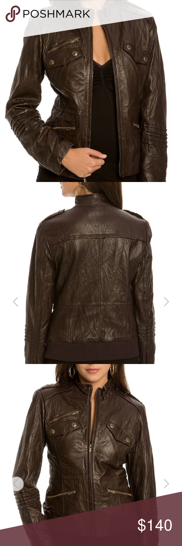 Guess Jocelyn Leather Jacket Brown Brown Leather Jacket Leather Jacket Lit Outfits [ 1740 x 580 Pixel ]