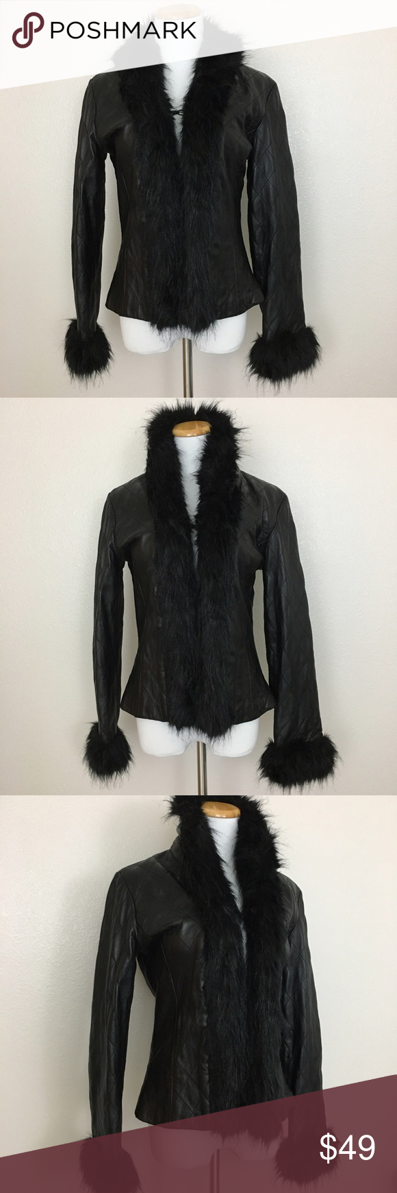 Venus Williams Wilsons Leather Jacket, faux fur, S Venus