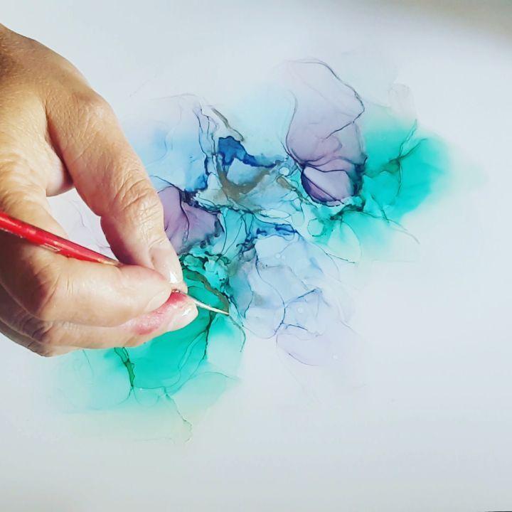 Alcohol Ink Art - Yupo Paper Series - Blu Mare