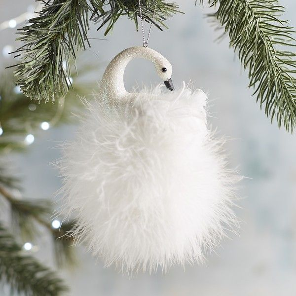 Pier 1 Imports Feather Swan Ornament 636 liked on