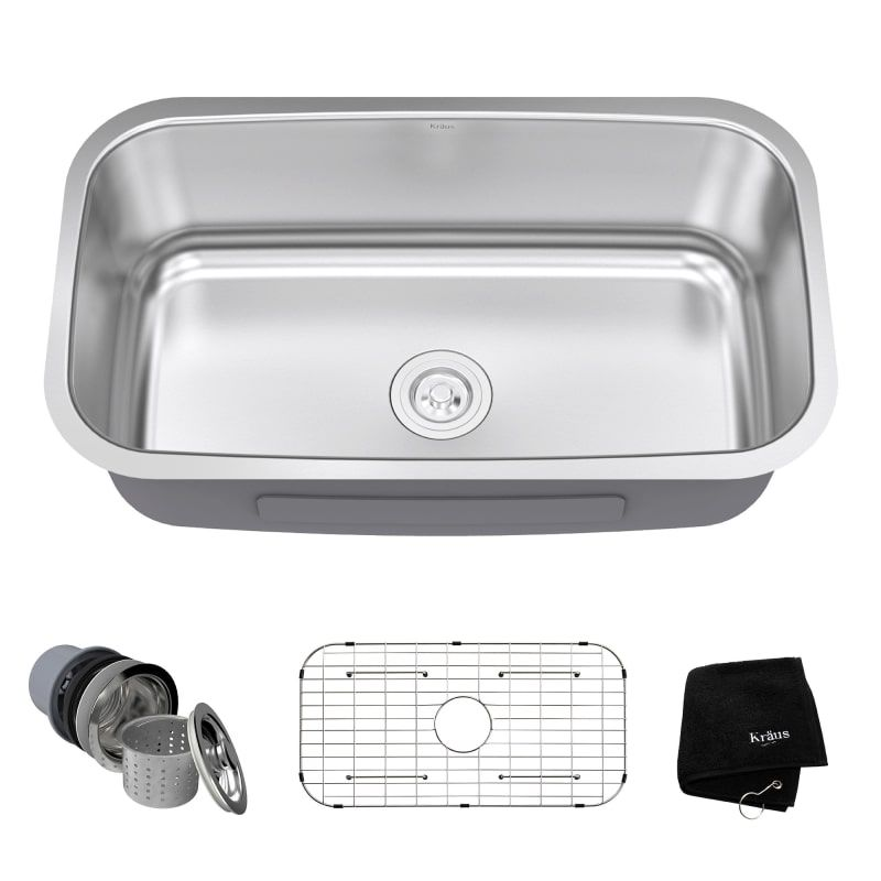 Kraus Kbu14 Steel Kitchen Sink Sink Single Bowl Kitchen Sink
