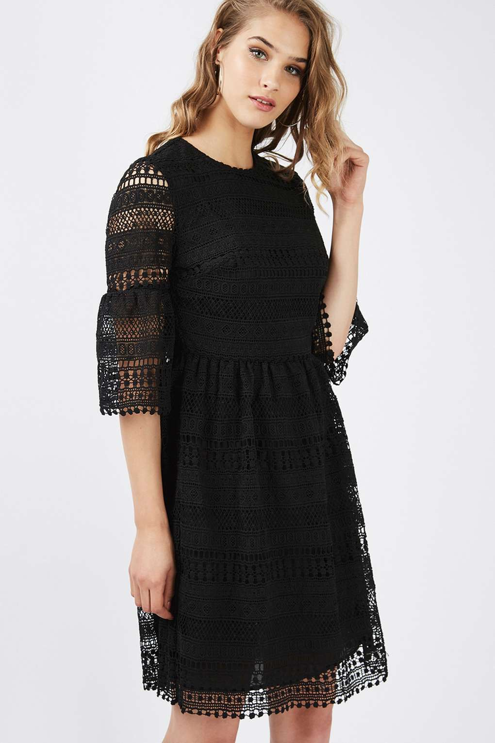 **Crochet Detail Skater Dress by Glamorous