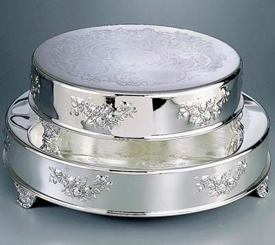Exceptional Round Silver Cake Stand Awesome Ideas