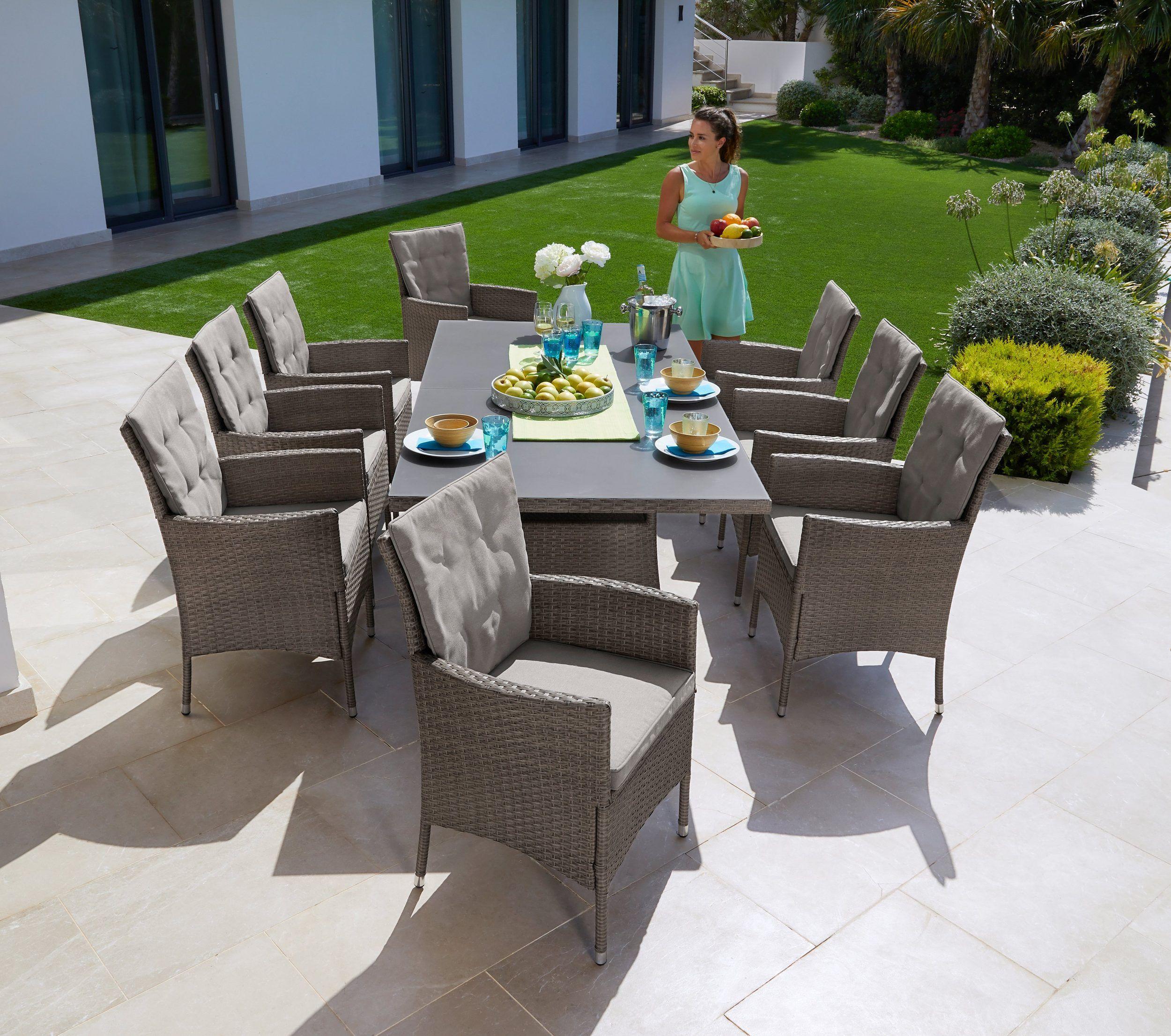 Konifera Gartenmobelset Mailand Diningset Fur 8 Personen Geeignet Online Kaufen Otto Gartenmobel Sets Terassenideen Gartenmobel
