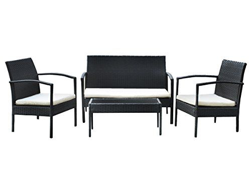 MALATEC Gartenmöbel Polyrattan Sofa Garnitur Sitzgruppe Gartenmöbel