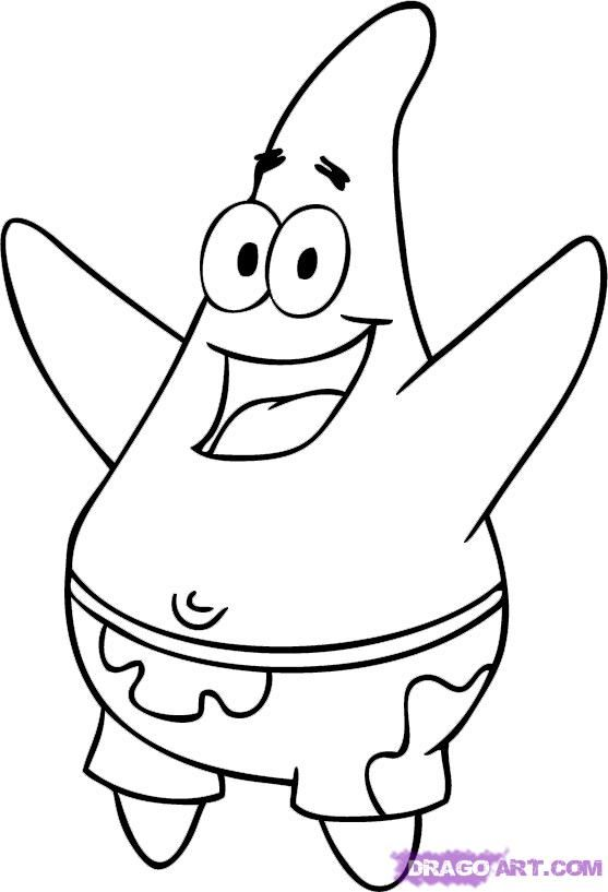 How To Draw Patrick Star By Dawn Spongebob Drawings Star
