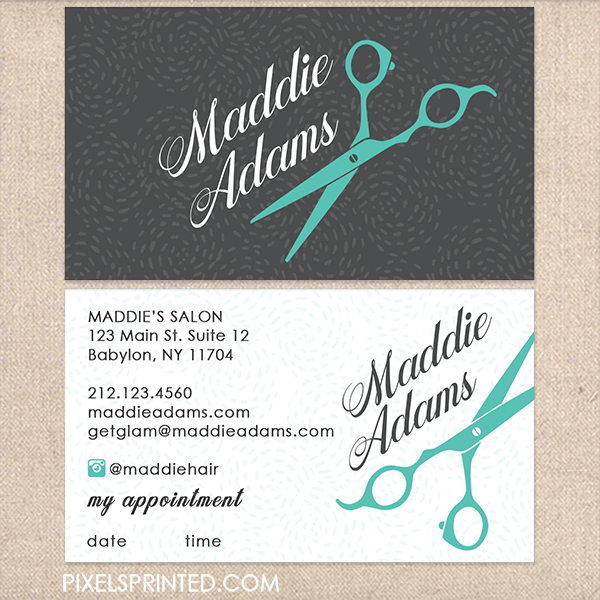 Hairstylist Hair Stylist Romantic Floral Wrapping Business Card ...