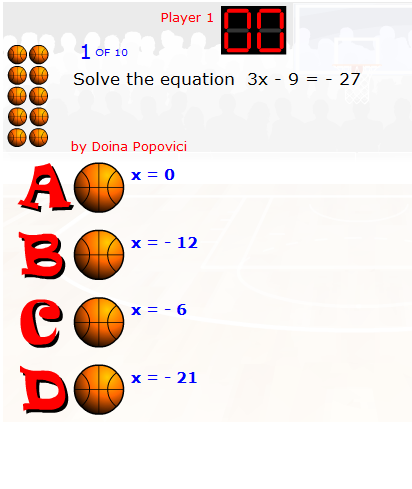 Online basketball game equation solving players get to take shots online basketball game equation solving players get to take shots at the basket if fandeluxe Images
