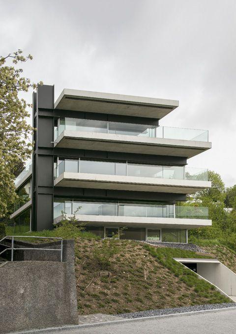 Christian kerez house with a missing column zurich for Modern house zurich